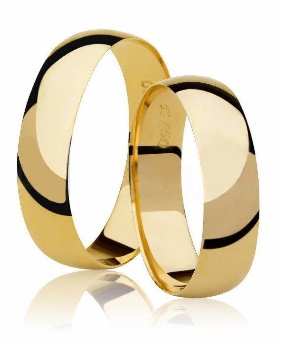 Aliança de Casamento em Ouro 18k  - Unitária (4mm)