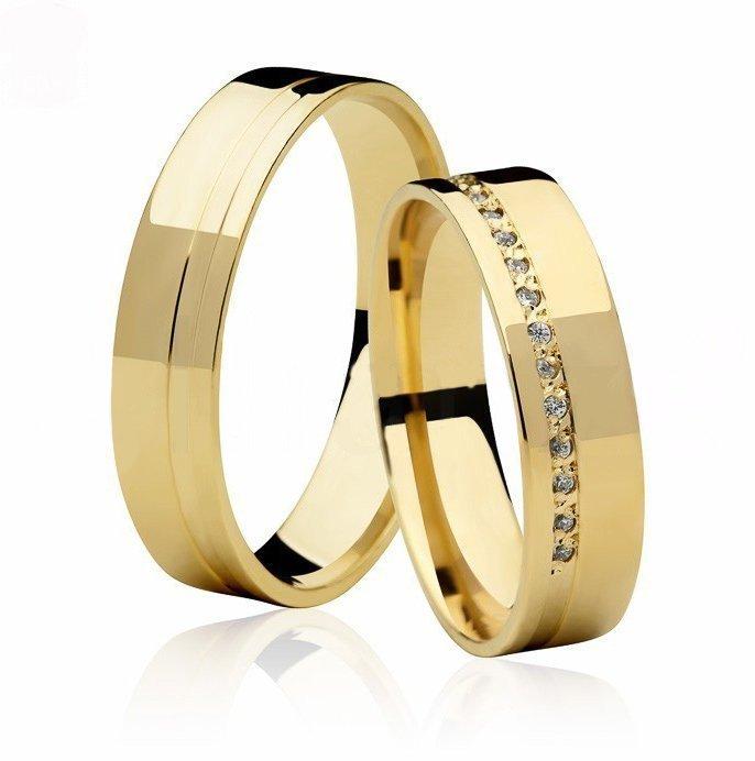 Aliança de Casamento em Ouro Amarelo  Lisa Love Me III - Unitária (5mm)