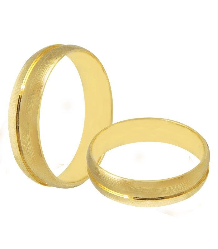 Aliança de Casamento Etoile em Ouro 18k Fosca (5mm)