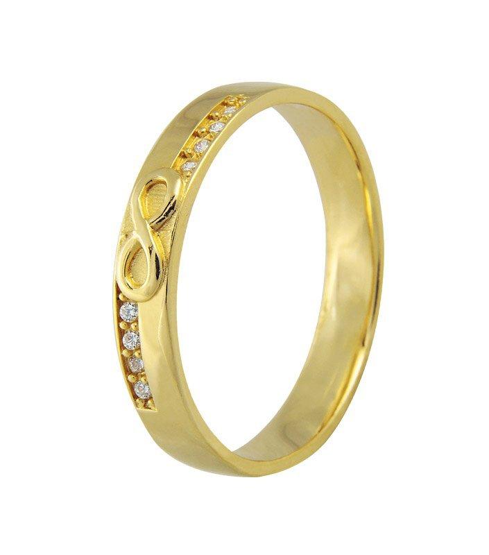Aliança de Casamento Infinite Ouro Amarelo18k (3.65mm)