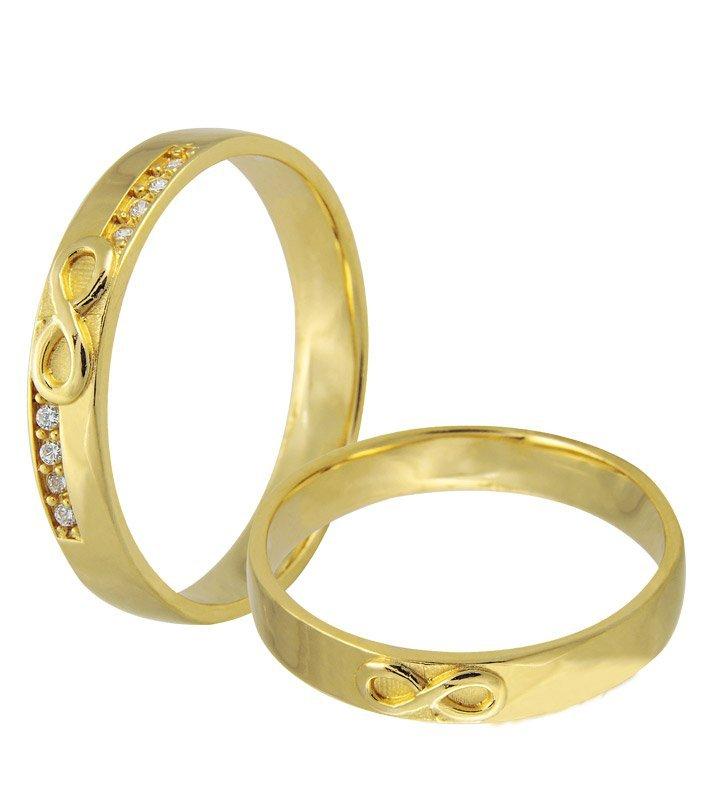 Aliança de Casamento Infinite Ouro Amarelo18k - Unitária (3.65mm)