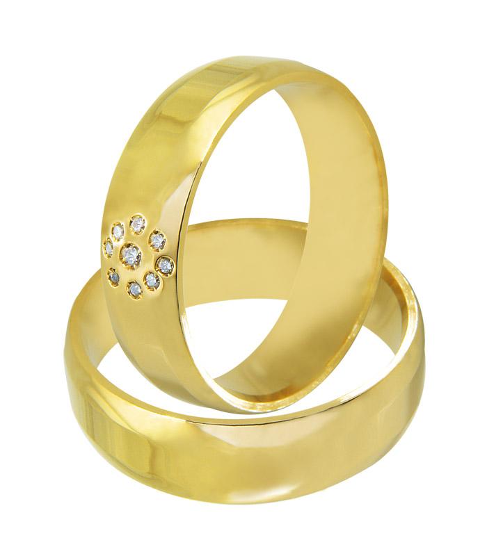 Aliança de Casamento Intense Ouro Amarelo 18k - Unitária (6mm)