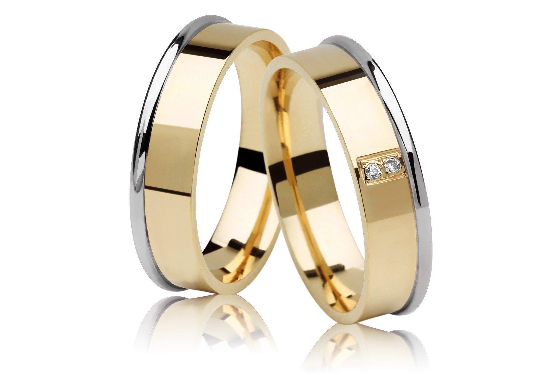 Aliança de Casamento JOE em Ouro Amarelo e Branco 18k e Diamantes - Unitária (5.30mm)