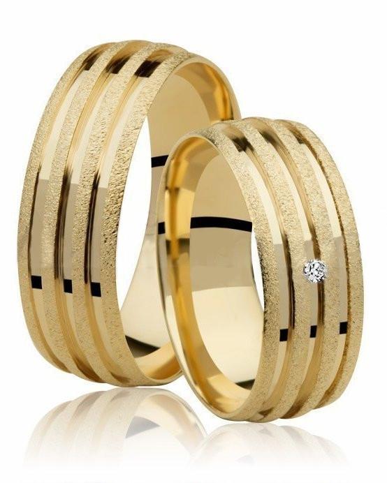 Aliança de Casamento Lovely Ouro 18k e Diamante (6.80mm)