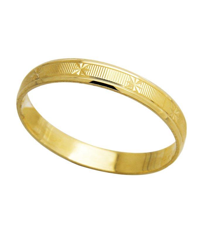 Aliança de Casamento modelo escrava em Ouro 18k (2.70mm)