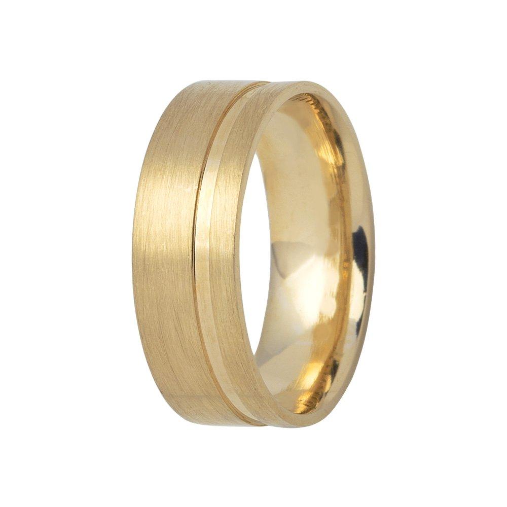 Aliança de Casamento Ouro Amarelo 18k Fosca Love Me II (6mm)