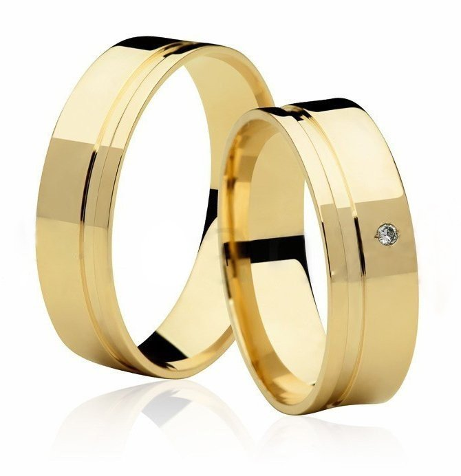 Aliança de Casamento Ouro Amarelo 18k  Frame Stone II (5.5mm)