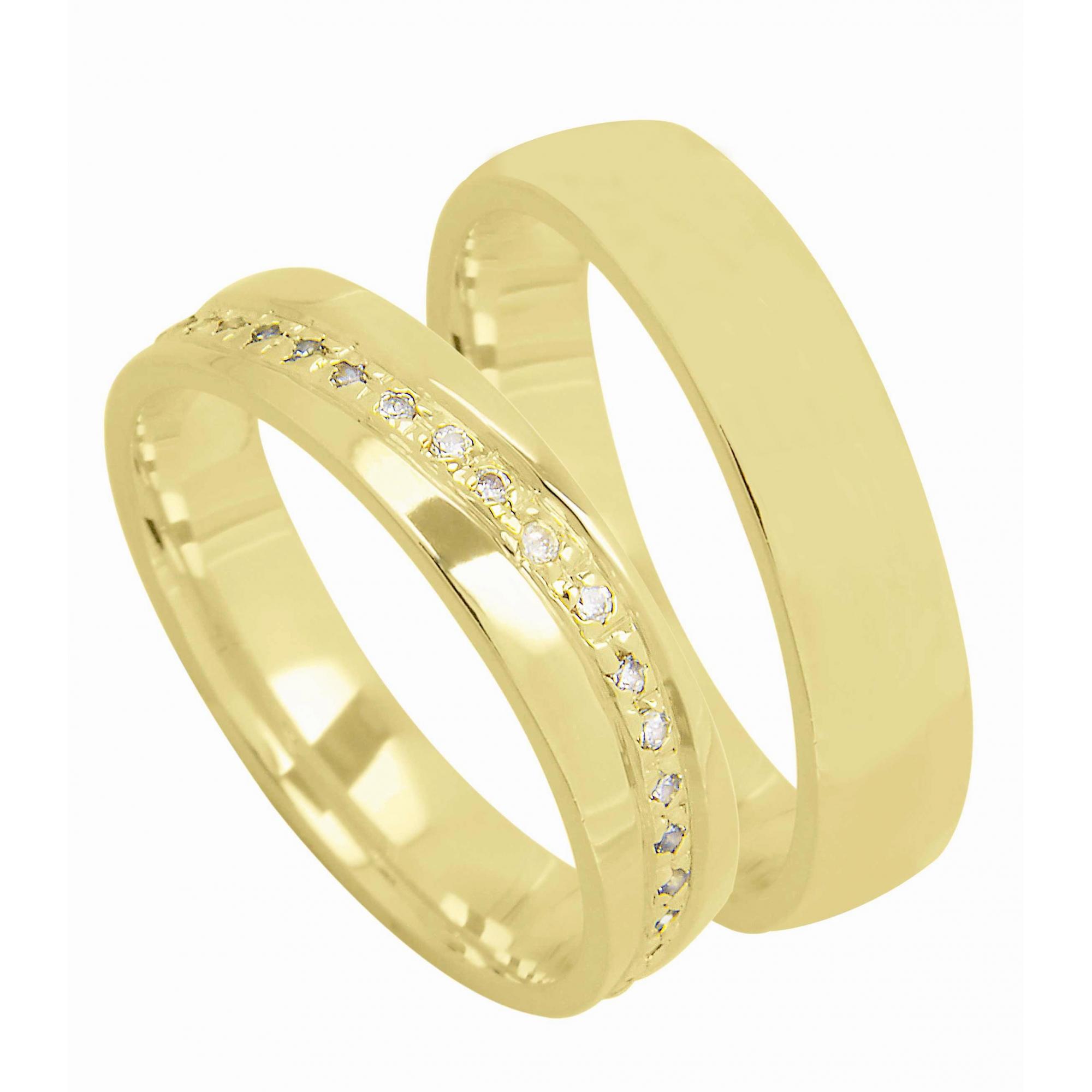 Aliança de Casamento Ouro Amarelo 18k Madri - Unitária (4mm)