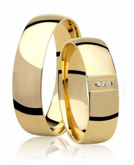 Aliança de Casamento Ouro Amarelo 18k Princess - Unitária (5mm)