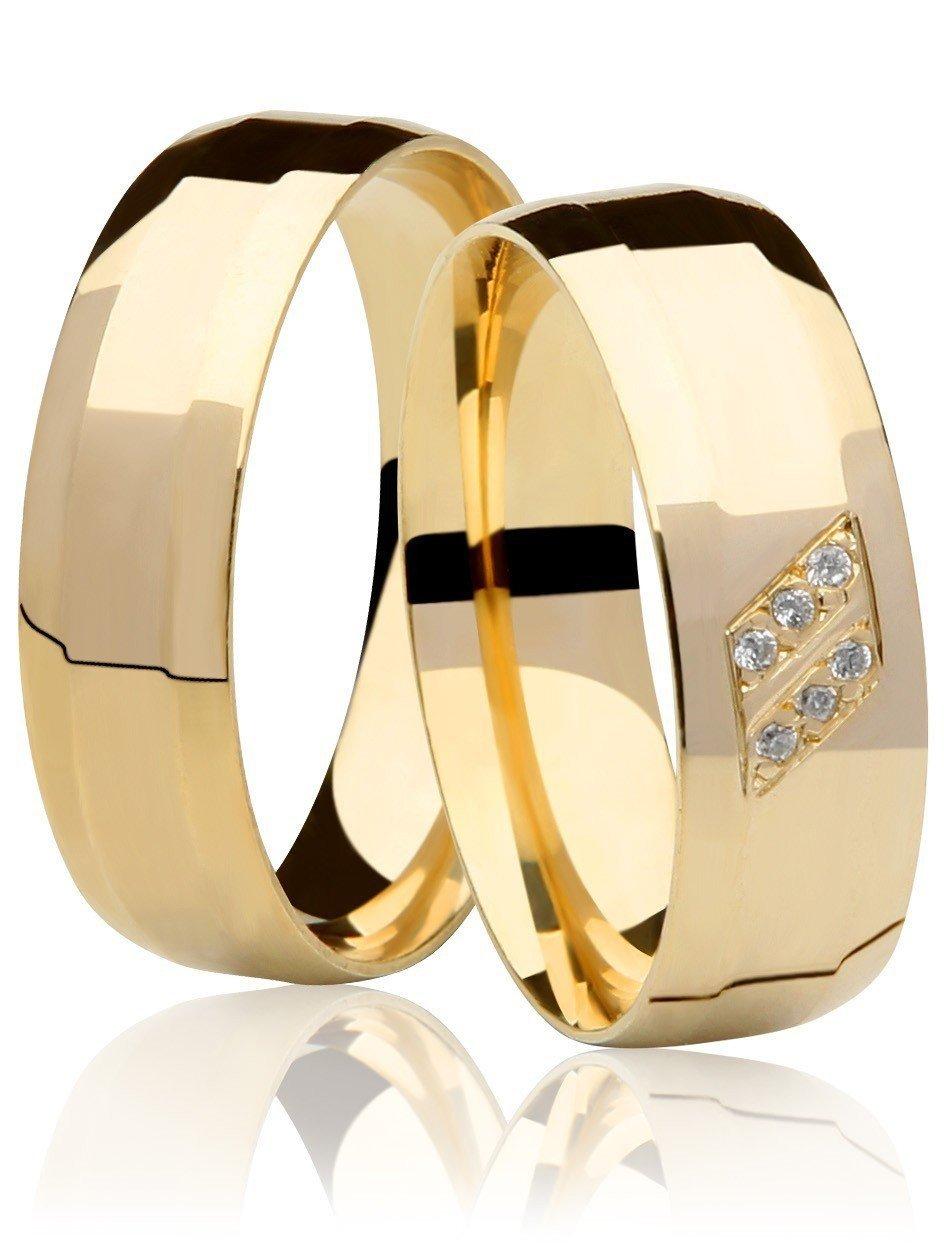 Aliança de Casamento Ouro Amarelo Allure (6mm)