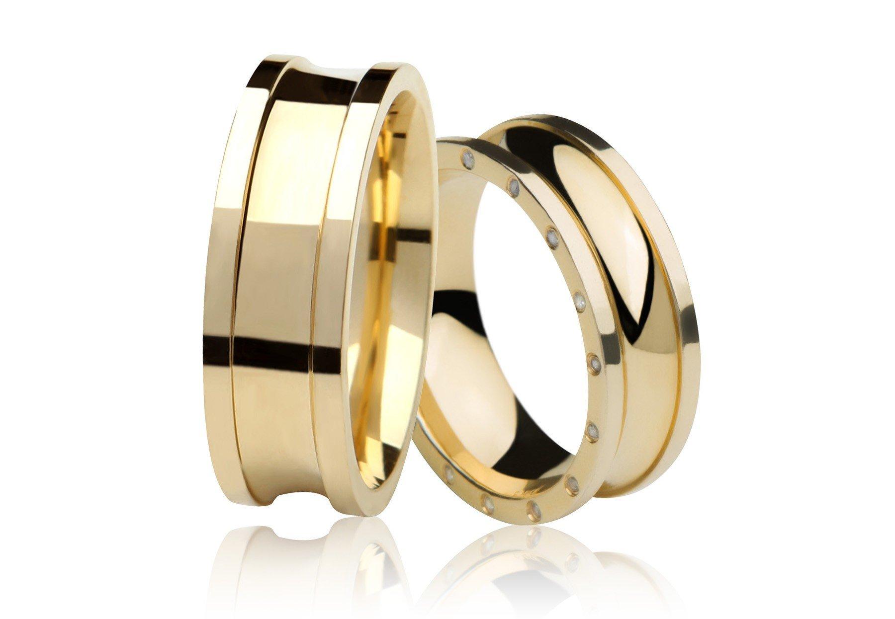 Aliança de Casamento Prelude Ouro Amarelo 18k - Unitária (7.30mm)