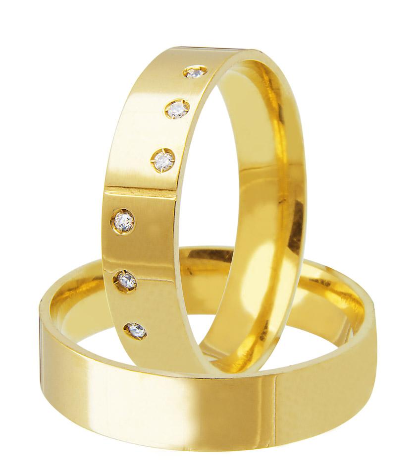 Aliança de Casamento Quadrada em Ouro 18k Honeymoon - Unitária (5mm)