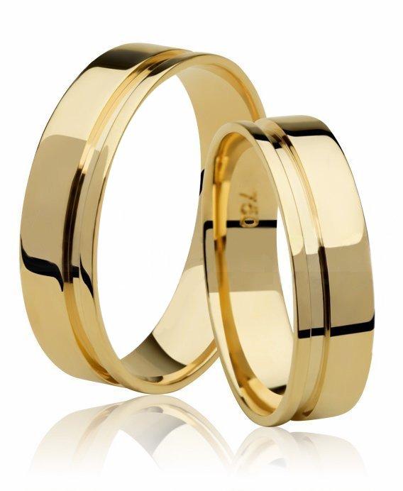 Aliança de Casamento Reta Ouro 18k Emotion II (4mm)
