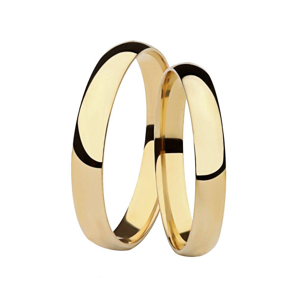 Aliança de Casamento Santiny Classic de Ouro Amarelo (3mm)