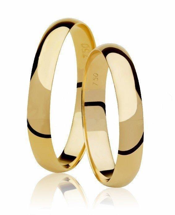 Aliança de Casamento Santiny Classic de Ouro Amarelo - Unitária (3mm)
