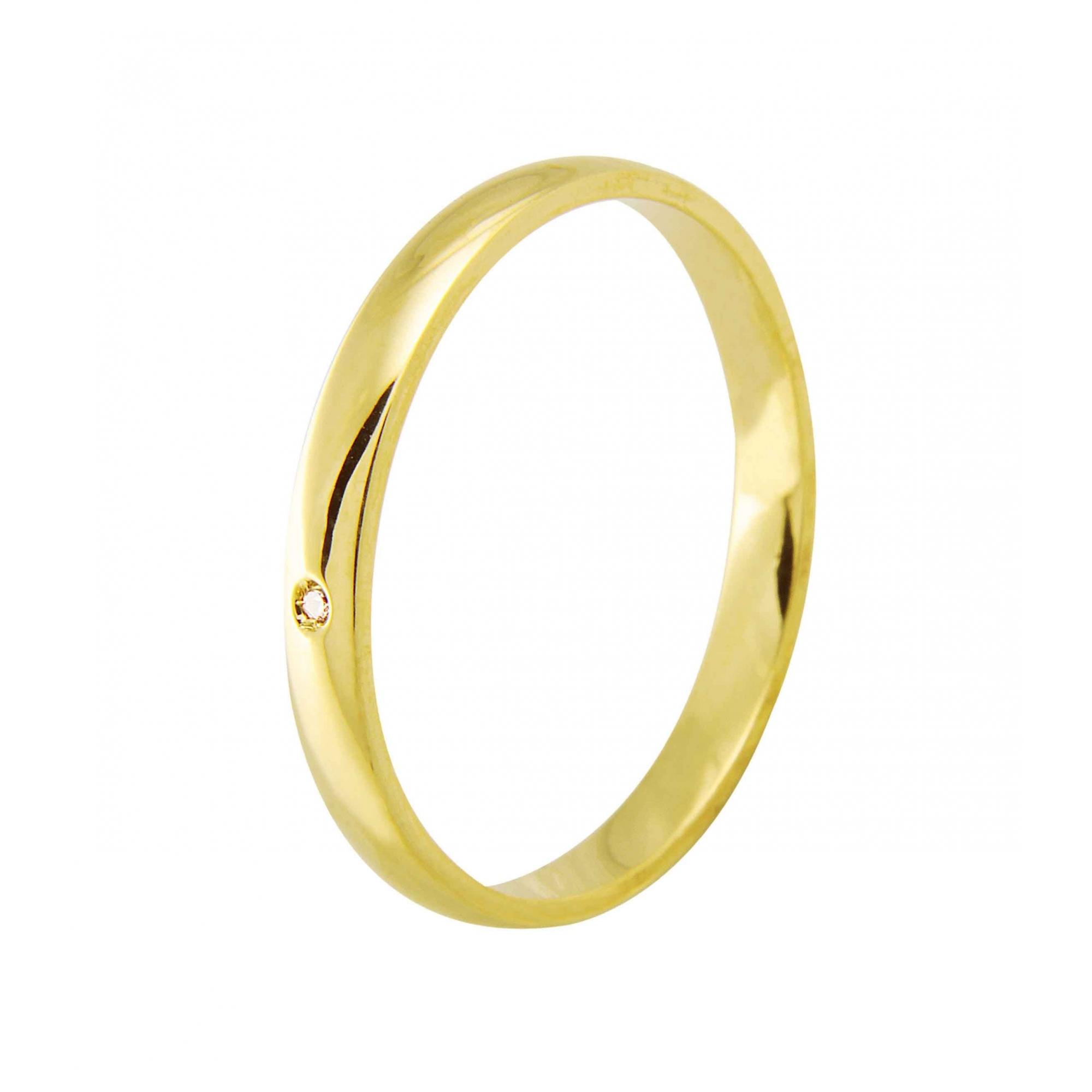 Aliança de Casamento Santiny Classic em Ouro 18k e Diamante (2.5mm)
