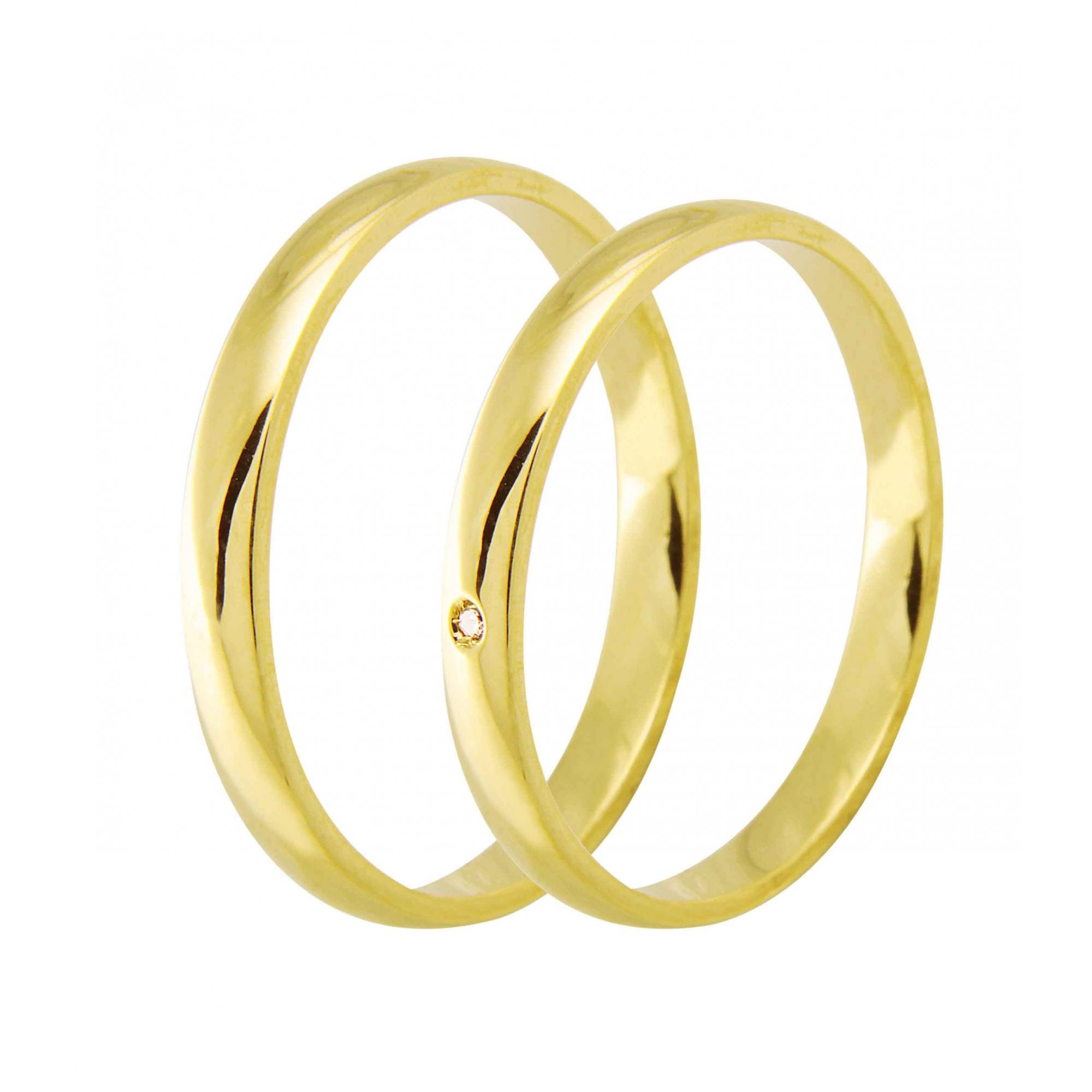 Aliança de Casamento Santiny Classic em Ouro 18k e Diamante - Unitária (2.5mm)