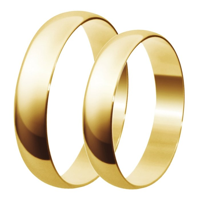 Aliança de Casamento Santiny Classic em Ouro Amarelo - Unitária (3.50mm)