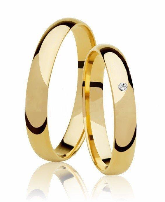 Aliança de Casamento Santiny Classic Ouro 18k e Diamante - Unitária (3.45mm)
