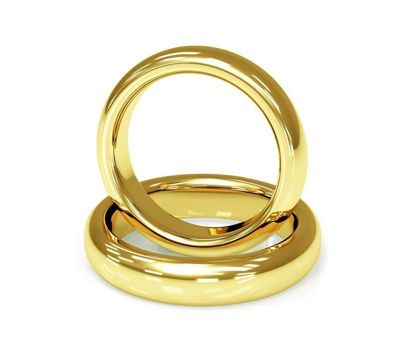 Aliança de Casamento Santiny Classic Ouro Amarelo - Unitária (3.40mm)
