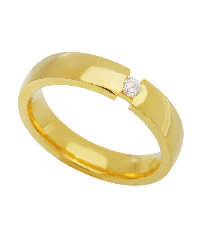 Aliança de Casamento Tension Ouro 18k  Anatômica (3.5mm)