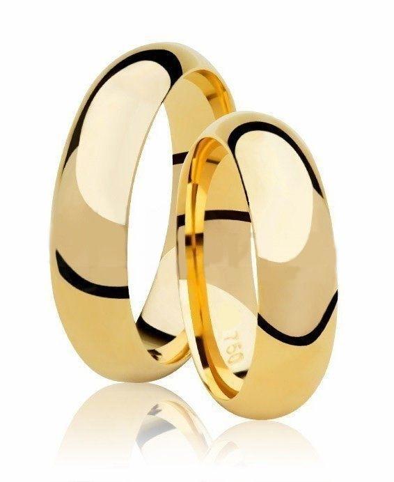 Aliança de Casamento Tradicional Confort em Ouro 18k - Unitária (5.50mm)