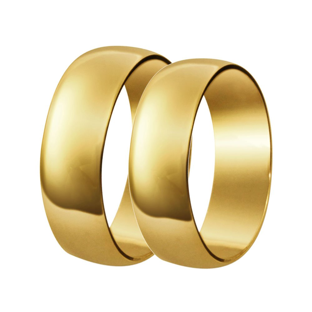 Aliança de Casamento Tradicional Santiny de Ouro 18k (4.90mm)