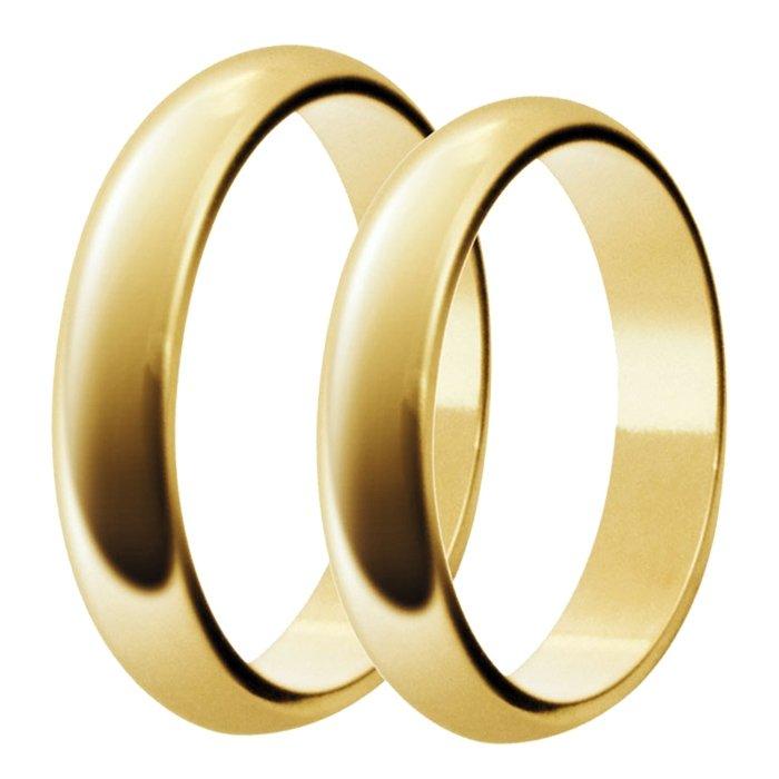 Aliança de Casamento Tradicional Santiny em Ouro 18k - Unitária (4mm)