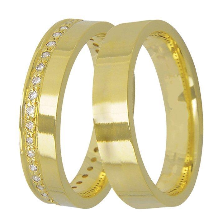 Aliança de Casamento True Love em Ouro Amarelo 18k - Unitária (4.10mm)