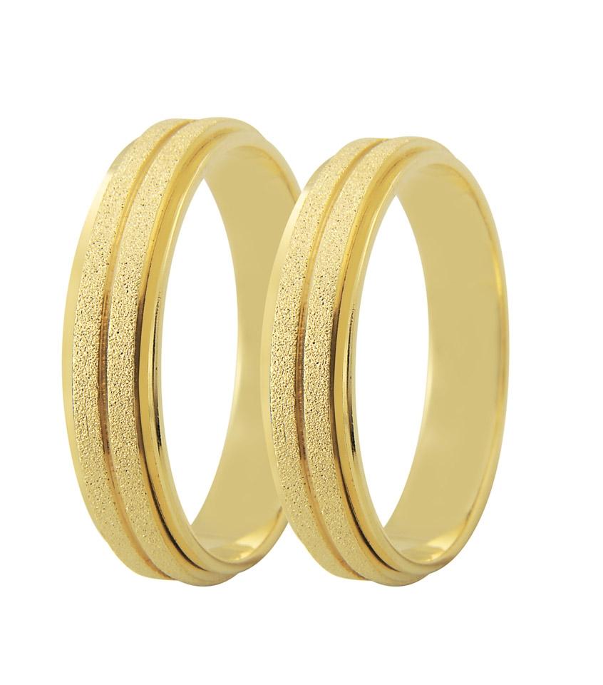 Aliança de Ouro 18k Diamantada Bride - Unitária (5mm)