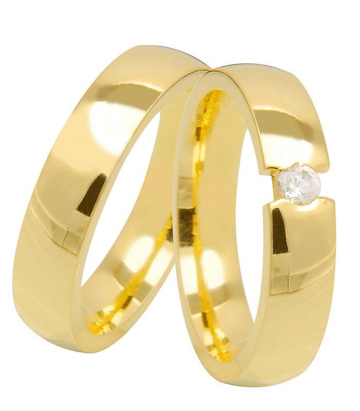 Aliança de Ouro Amarelo 18k Anatômica  TENSION (4.8mm)