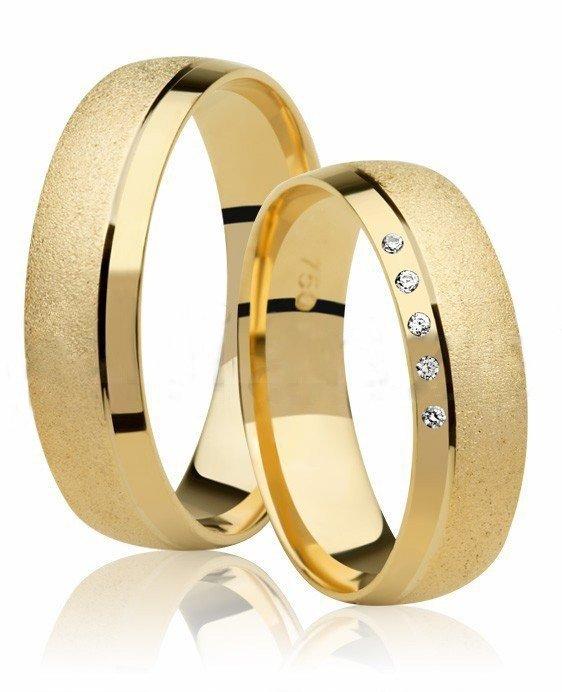 Aliança de Ouro Amarelo 18k Promise Diamantada - Unitária (5mm)