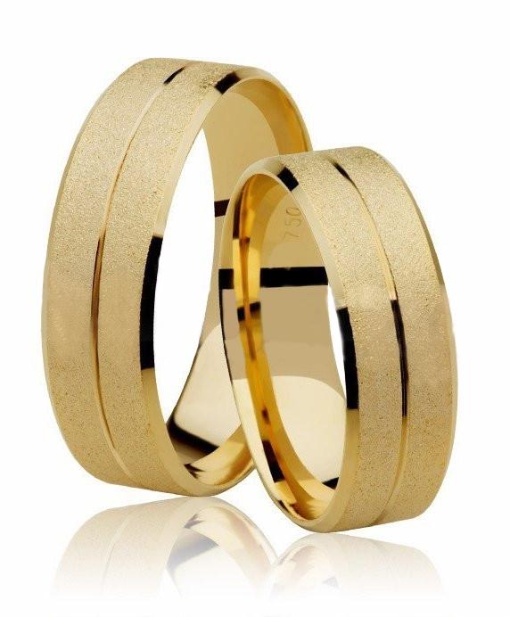 Aliança de Prata 950 Banhada a Ouro 24k Casamento AB7006
