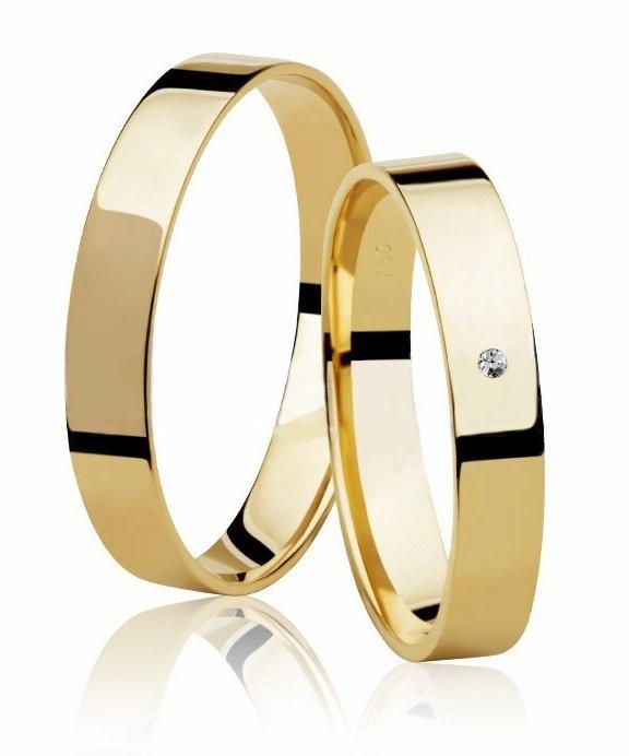 Aliança de Prata 950 Banhada a Ouro 24k Casamento AB7011
