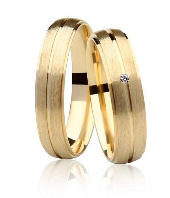 Aliança de Prata 950 Banhada a Ouro 24k Casamento AB7028