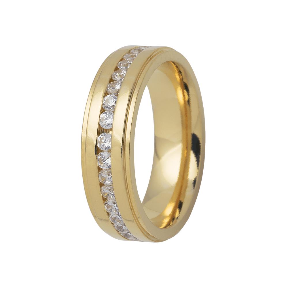 Aliança de Prata 950 Banhada a Ouro 24k Casamento  AB7043