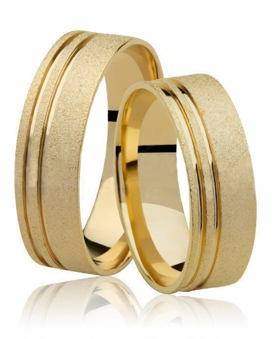 Aliança de Prata 950 Banhada a Ouro 24k Noivado ou Casamento AB7032