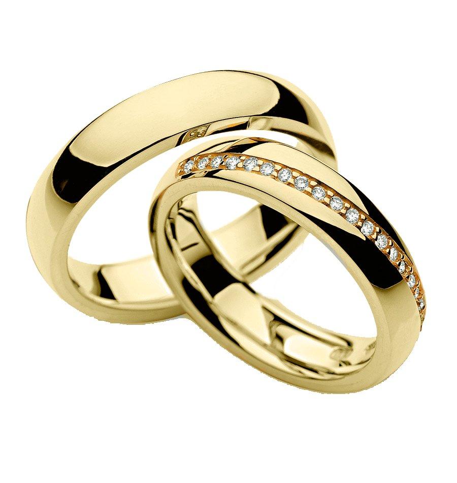 Aliança de Prata Banhada a Ouro 5mm Casamento AB7016
