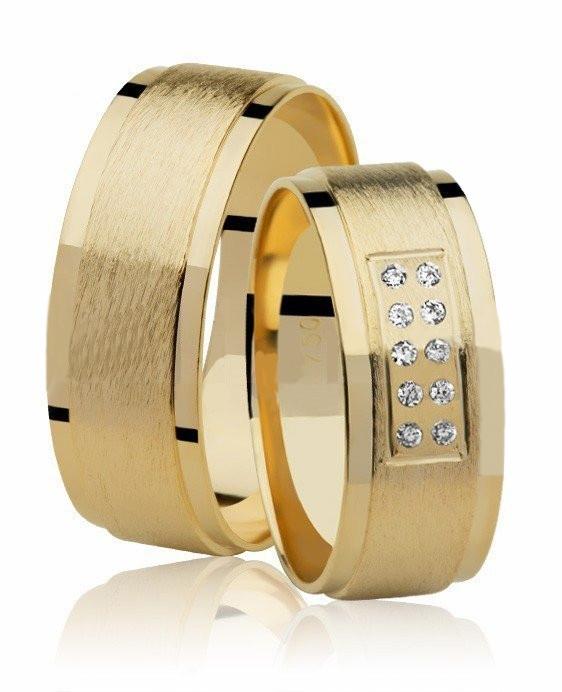 Aliança de Prata Banhada a Ouro 7mm Noivado ou Casamento AB7092