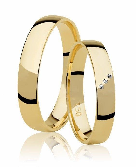Aliança de Prata Banhada a Ouro Noivado ou Casamento AB7091
