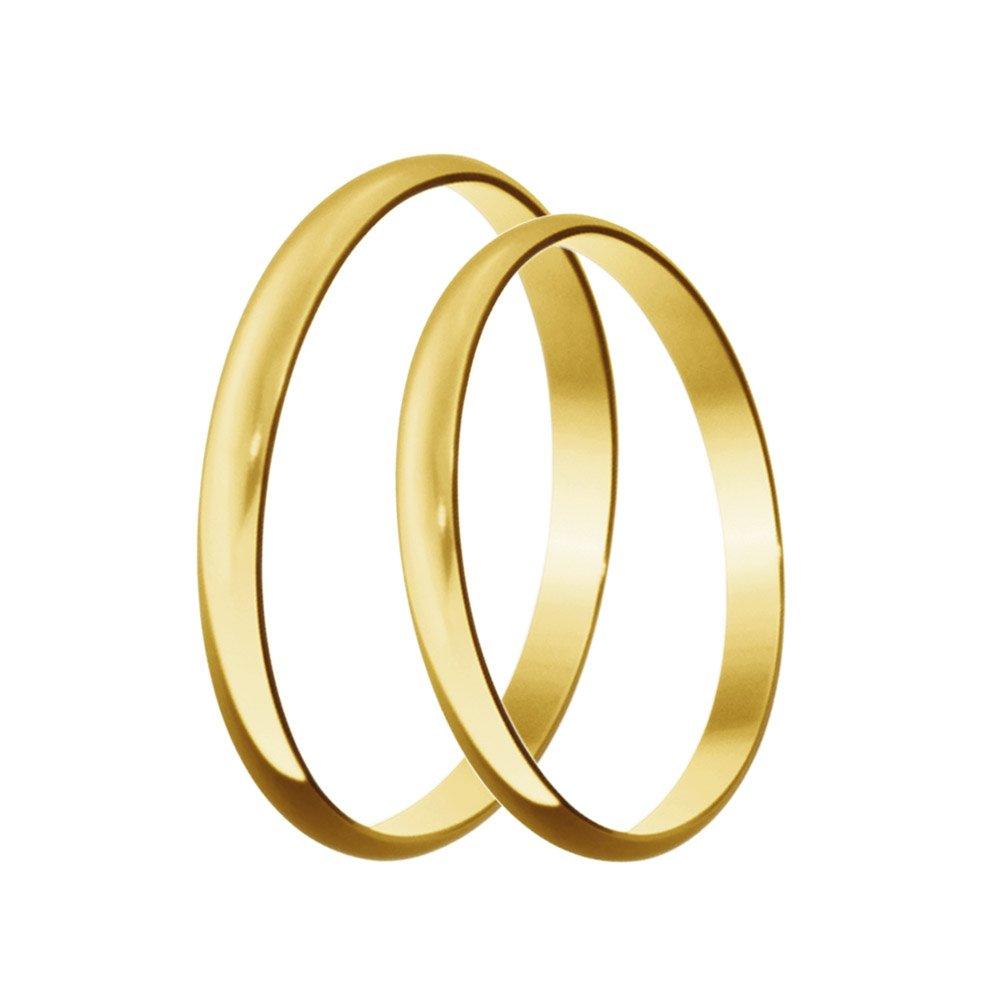 Aliança Tradicional Clássica de Ouro Amarelo 18k - AL8000-U