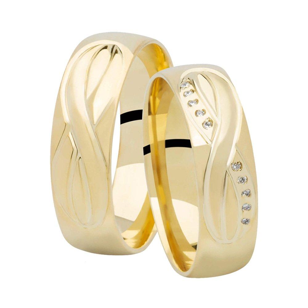 Alianças de Casamento Infinite Ouro 18k - Unitária (6mm)