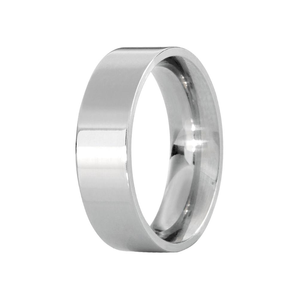 Alianças de Namoro Prata Linha Classic Quadrada Polida (6mm)