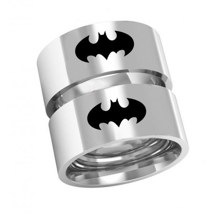 Alianças Namoro de Prata Batman com 8 mm AP6016