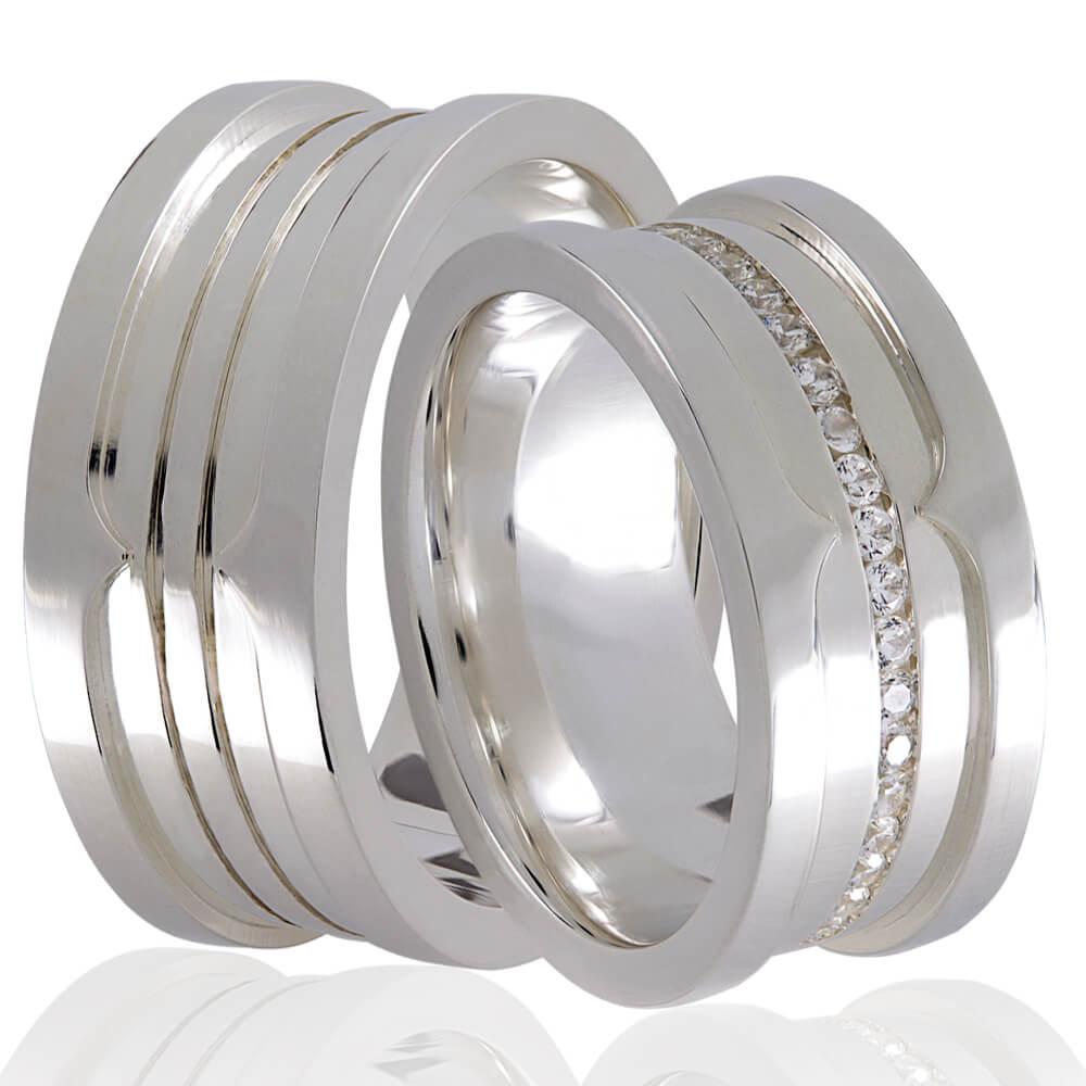 Alianças Namoro Love Stone de Prata 950 - AP6042