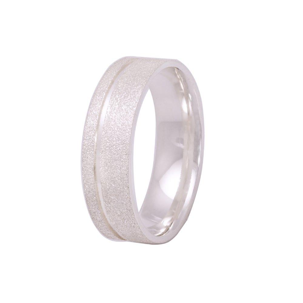 Alianças Namoro Prata Diamantadas 6mm  AP6027