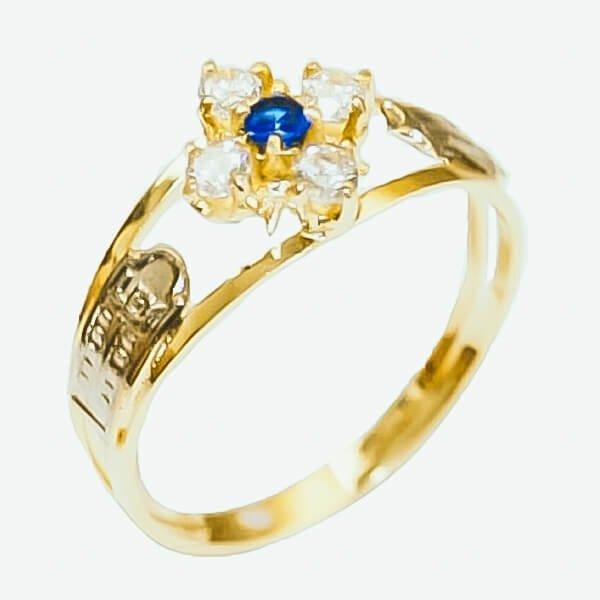 Anel de Formatura Ouro 18k Pedra Esfera AF635