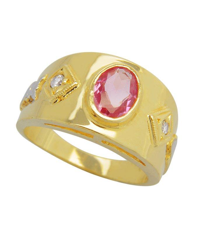 Anel Formatura de Ouro 18k Pedra Central Oval  AF424