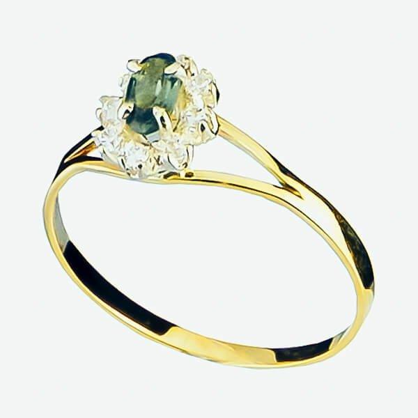 Anel Ouro 18k Formatura Pedra Navette - AFPII