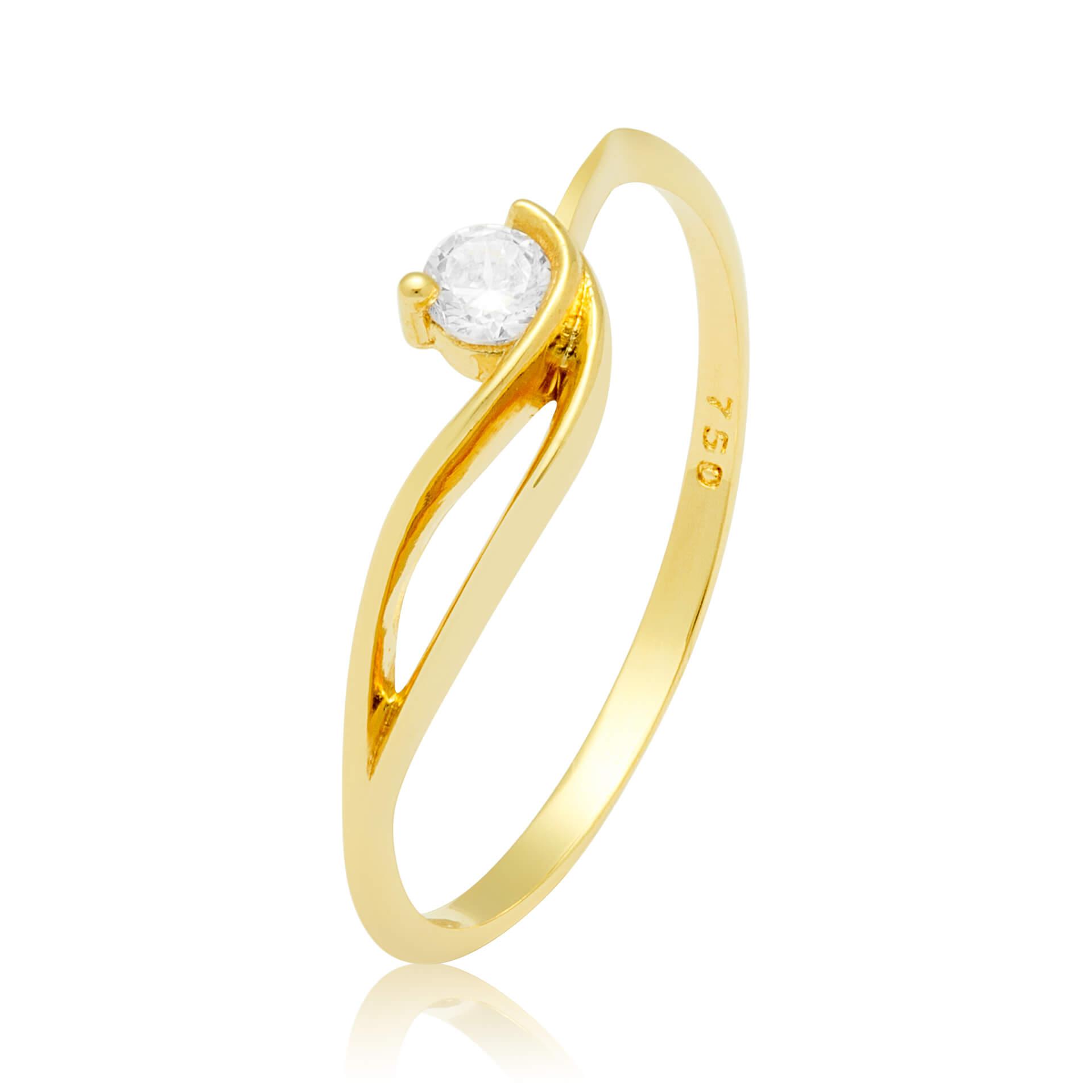 Solitário Ouro Amarelo 18k Flawless e Diamantes